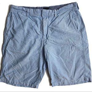 "J.Crew Club 10.5"" inseam/length blue cotton"